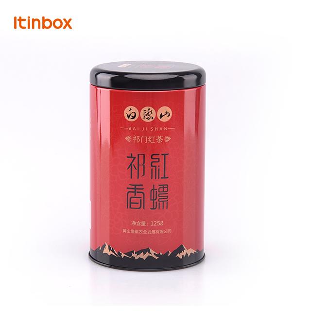 High quality hot sale custom metal Chinese round gift tea tin box packaging