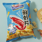 Qinqin 80g Prawn Cracker Stick Original Salty Flavor Puffed Seafood Chinese Snack Custom Production