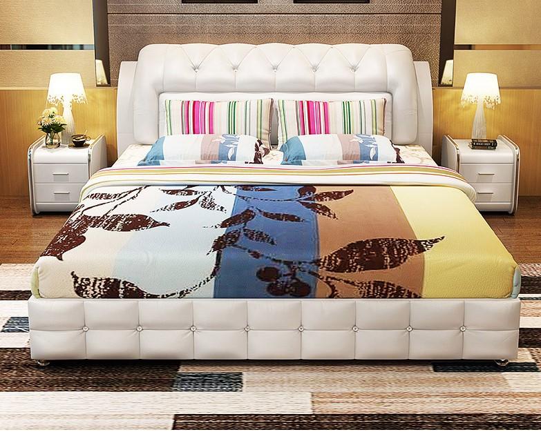 Modular homes fold  round   modern storage leather bed