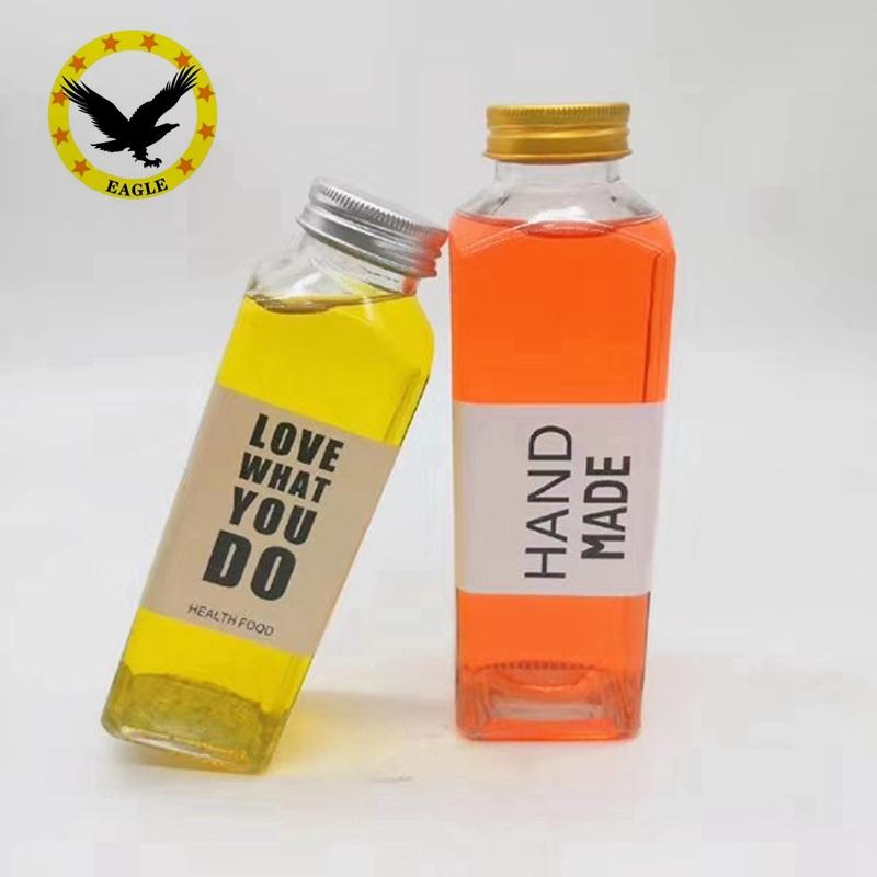 Оптовая продажа, 300 мл, 400 мл, бутылка для напитков, соковыжималка, стеклянная прозрачная бутылка