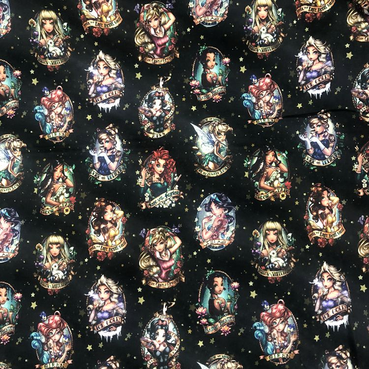 95%Cotton 5% Spandex Knitted Jersey Baby Fabric Digital Printing Custom Cotton Lycra Fabric