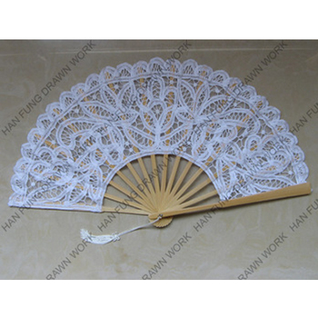 Decoration Personalized Folding Fan See Through Lace Wooden Hand Fans Wedding Lace Folding Fan For Wedding