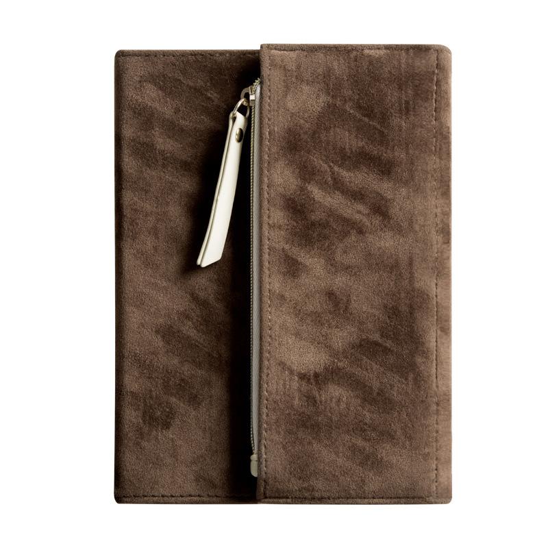 B6 замшевый дневник, зимняя креативная Складная ручная книга, 2020 планировщик, офисный органайзер для путешествий, записная книжка на молнии, ...(Китай)