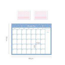 Ежедневный Еженедельный ежемесячный учебный календарь для студентов на 100 дней, стол для самостоятельной подготовки, рабочий план офиса 2020(Китай)