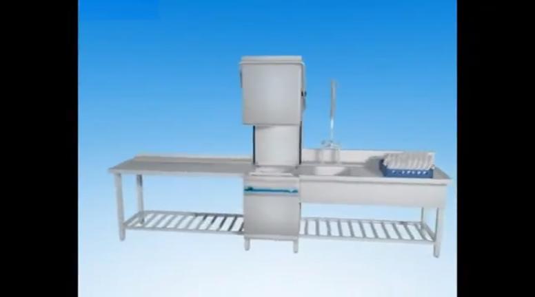 380V Commercial hood type hotel dishwasher canteen dishwasher