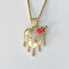 "gold pendant+22"" Chain"