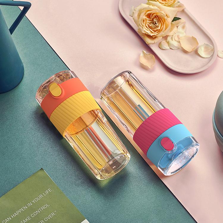 Герметичные бутылки для воды из тритана, 450 мл, без бисфенола А, с логотипом на заказ