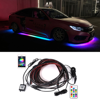 Flexible APP/Remote Control Flowing Color RGB Car Underglow Underbody System Neon Light Car LED Strip Light