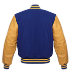 Jacket Leather Unisex Bomber Wool Body Custom Letterman Men Varsity Jacket With Leather Sleeves