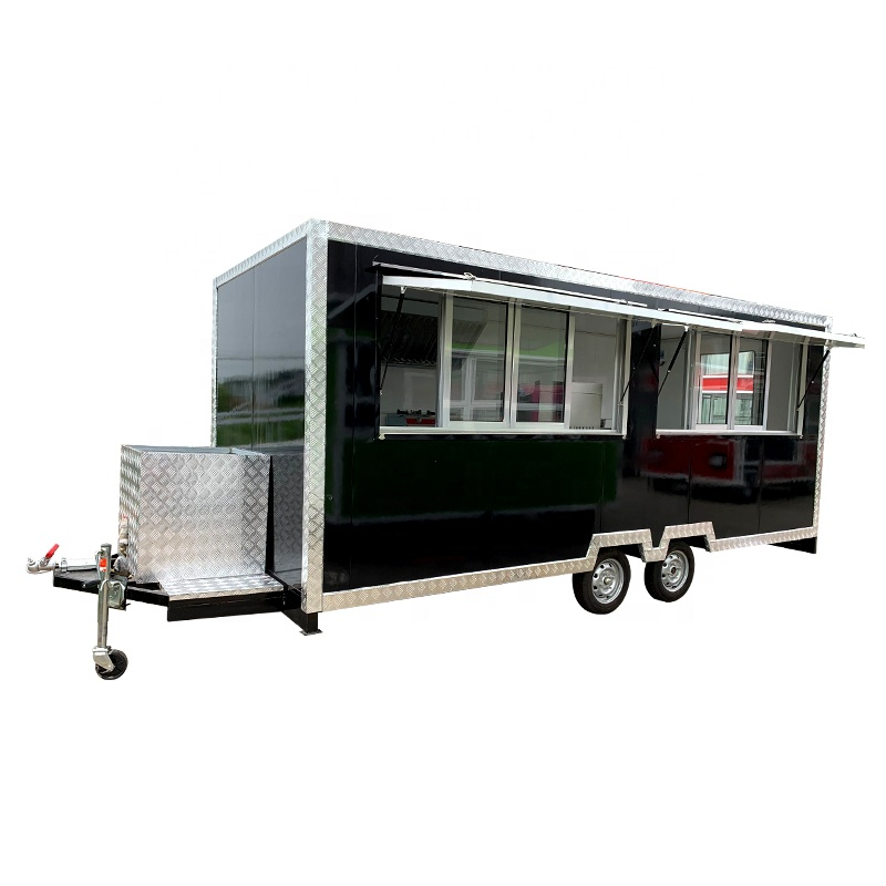 Trade Guarantee YANZHIMEI Outdoor Barbecue  Pizza Mobile Food Trailer Hot Dog Food Truck Street Dining Car For Sale