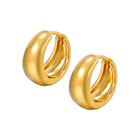 E-45 Xuping Amazon hot sale earrings for women, dubai gold color plated copper jewelry new fashion costume earring women