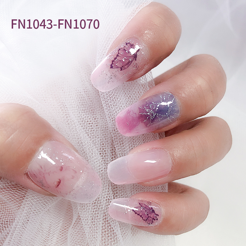 Factory direct sales Nail Art Stickers Anime cartoon style OFFSET Glitter Nail Jel Strips