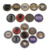 39mm promotional poker chip  fichas jetons pokerpoker accesorios metal poker chips All in gold golf
