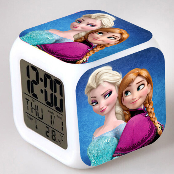 Amazon горячая Распродажа, товары от производителей по низким 7 видов цветов менять цифровой термометр привела кубичного будильник