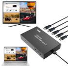 4 Channel HDMI to USB 3.0 Capture with HDMI 4X1 Quad Multi-Viewer Function ezcap264