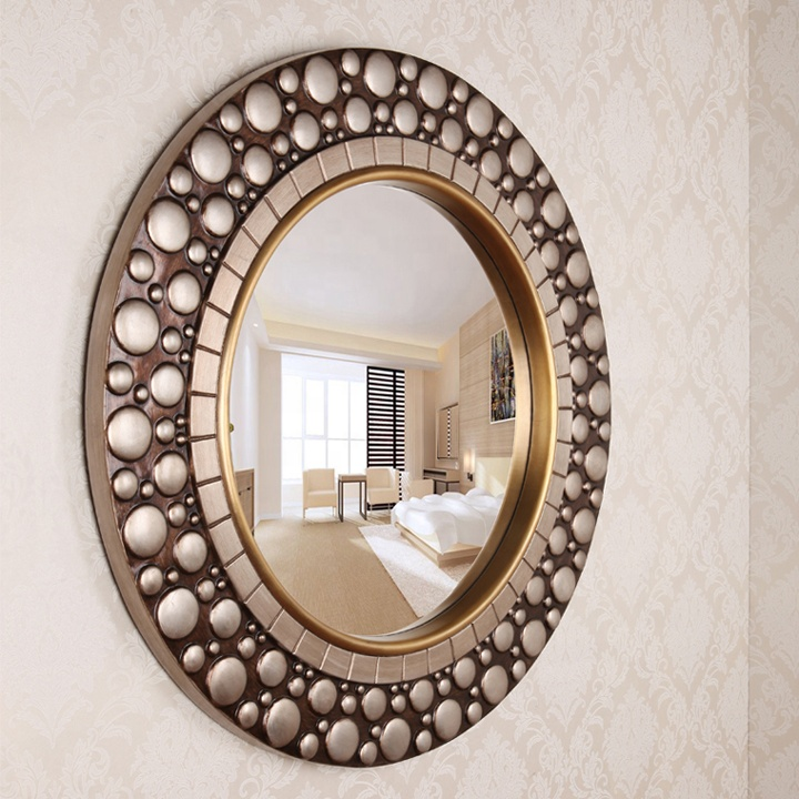 European Style Wall Mounted Antique Mirror Gold Polyresin Mirror Bathroom House Decoration Mirrors Beautiful Home Decor Round Buy Rectangular Wall Mirror Decor Wall Mirror In China Wall Mounted Mirror Product On Alibaba Com
