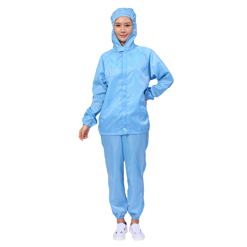 ESD Uniform Polyester Antistatic Workwear Cleanroom Suit Coverall Smock - KingCare | KingCare.net