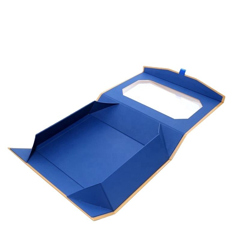الجملة المغناطيسي إغلاق ورق قابل للطي مسطحة قابلة للطي كرتون هدية صندوق مغناطيسي