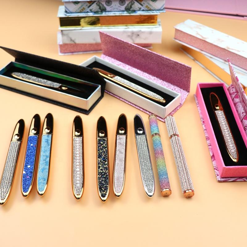 2020 New design self adhesive eyeliner 3d mink eyelashes private label mink lashes magic eyeliner glue pen