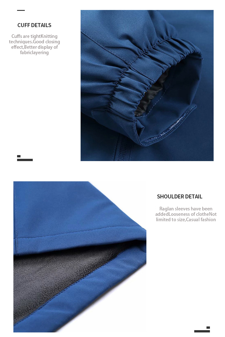 Winter 6Colour Plus Size Jacket Custom LOGO Windbreaker Windproof Unisex Hoodies Coat Solid Color Outdoors Workout Jacket