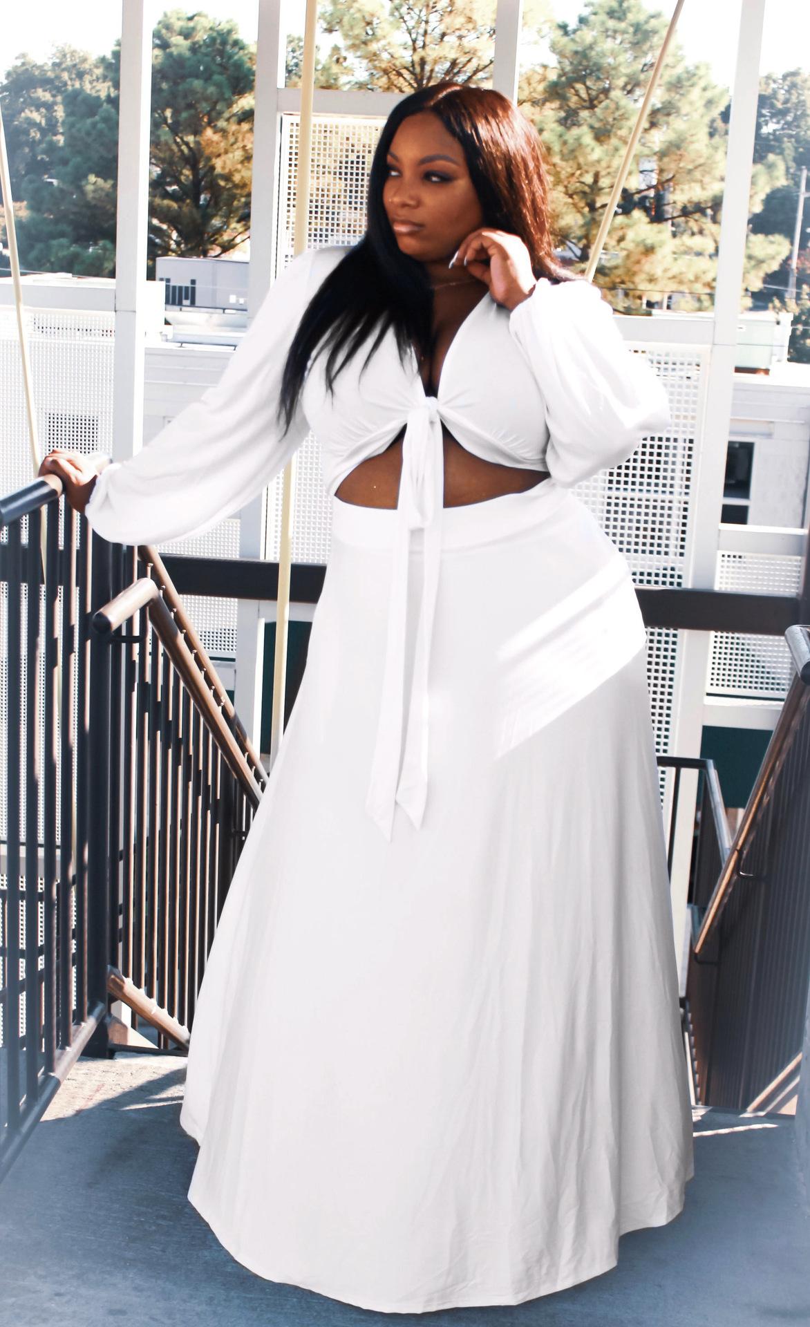 M6850 Fat girl clothing plus size women long sleeve sexy loose plus size dresses 4xl 5xl 6xl 7xl