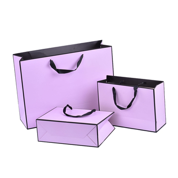 Good quality matte gross finish gift custom jewelry shopping bags in paper
