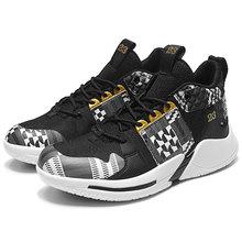 Мужские баскетбольные кроссовки Jordans с высоким берцем, амортизирующие кроссовки, мужские ботильоны на шнуровке, дышащая Спортивная обувь с...(Китай)