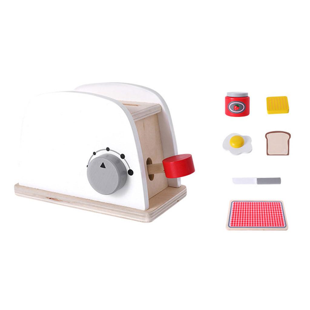 Детские деревянные ролевые игровые наборы, Имитационные тостеры, хлебопечка, Кофеварка, блендер, набор для выпечки, игровой миксер, кухонна...(Китай)