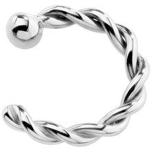 Винтажное Золотое кольцо для носа MLING, модное кольцо для носа с витой веревкой для женщин(China)