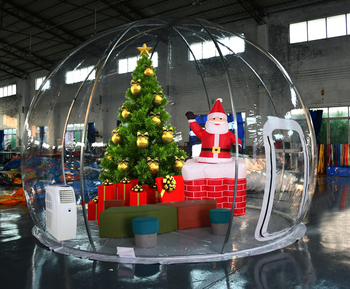 Minimum Order Quantity Outdoor Inflatable Transparent Clear Bubble Dome Tent House inflatable snow globe/giant customs snowball