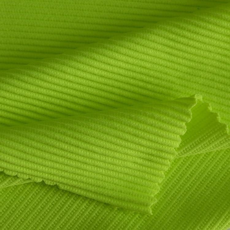 nylon spandex ottoman rib knit full dull stretch fabric for swimwear