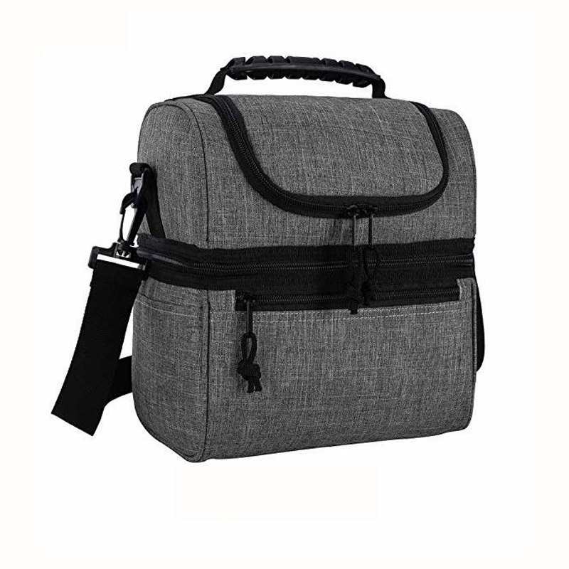 RPET material ultra Lightweight Reusable 2 Compartment Leakproof Insulated Cooler Lunch box Bag