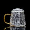 Glass lid tea cup