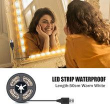 5 м косметический зеркальный светильник светодиодный светильник в полоску 5 в USB светодиодный гибкий ленточный светодиодный туалетный стол...(Китай)