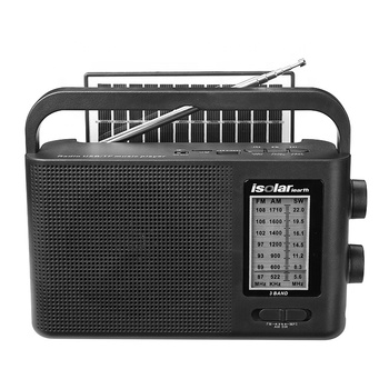 LED light USB TF TWS BT music player speaker FM AM SW 3 band radio with solar panel