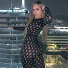 Rompers Hot Selling Sexy Cut Out Fashion Sports Solid Color Long Sleeve Club Wear Women Rompers And Jumpsuits