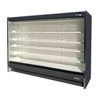 For Beverage Chiller Up Right Commercial Supermarket Freezer For Beverage Drink Fruit Vegetable Air Curtain Chiller