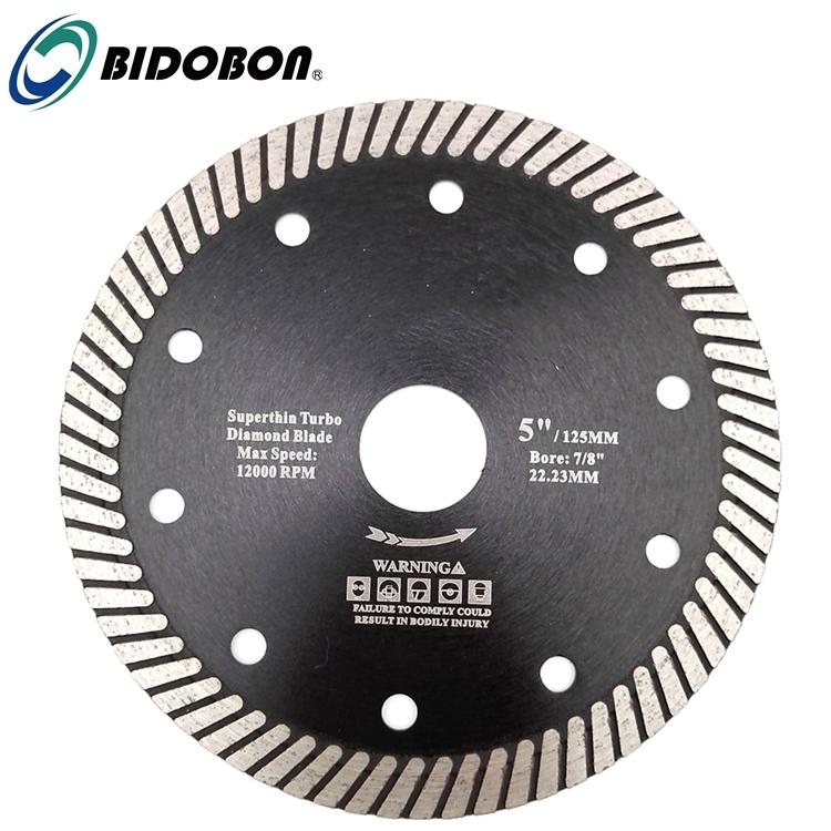 Bidobon Hot Pressed Turbo Diamond saw Blade for Ceramic Tile Granite Cutting