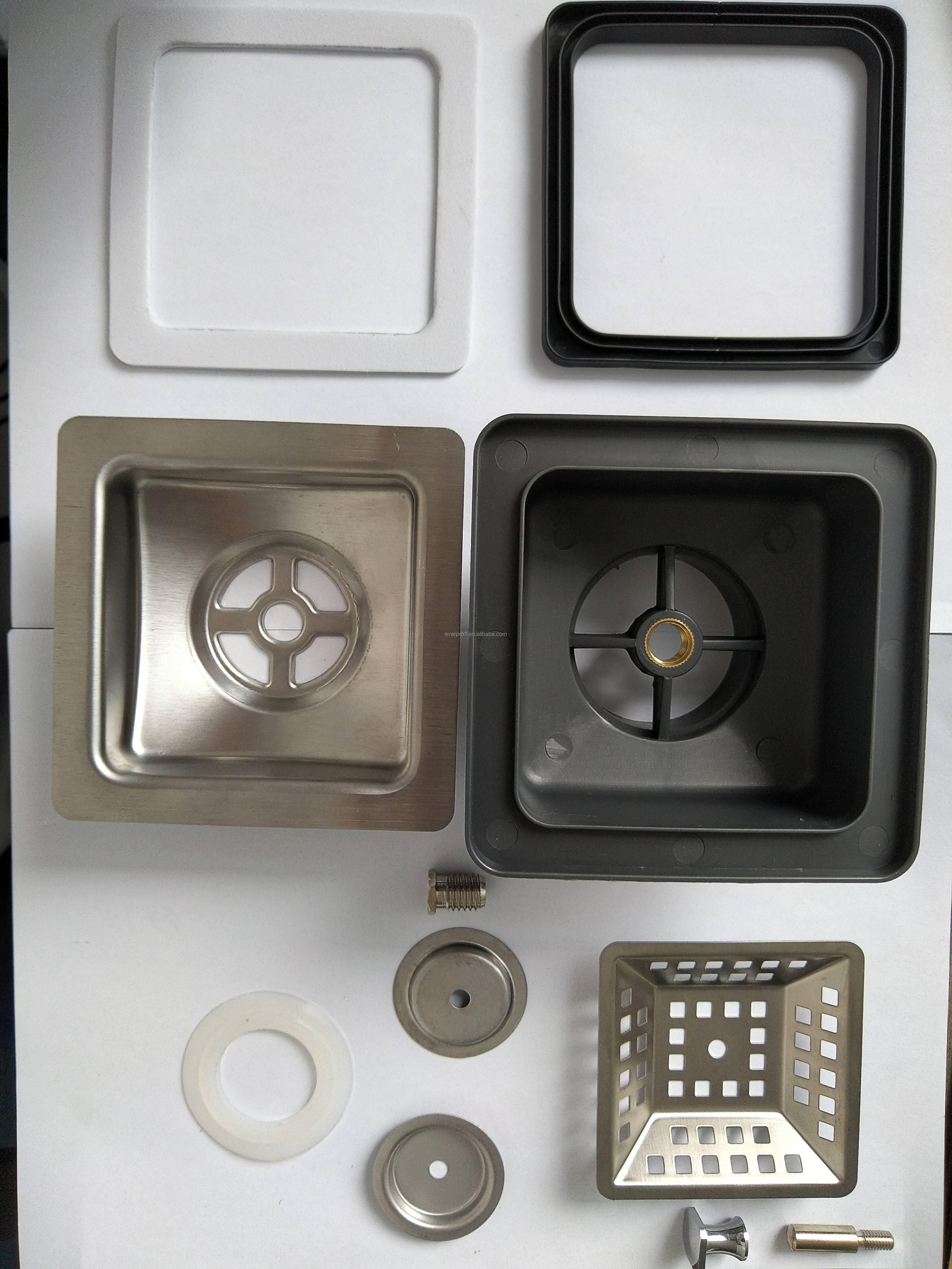 Kitchen Strainer Stainless Steel Metal Plastic square sink waste strainer Kitchen Accessories