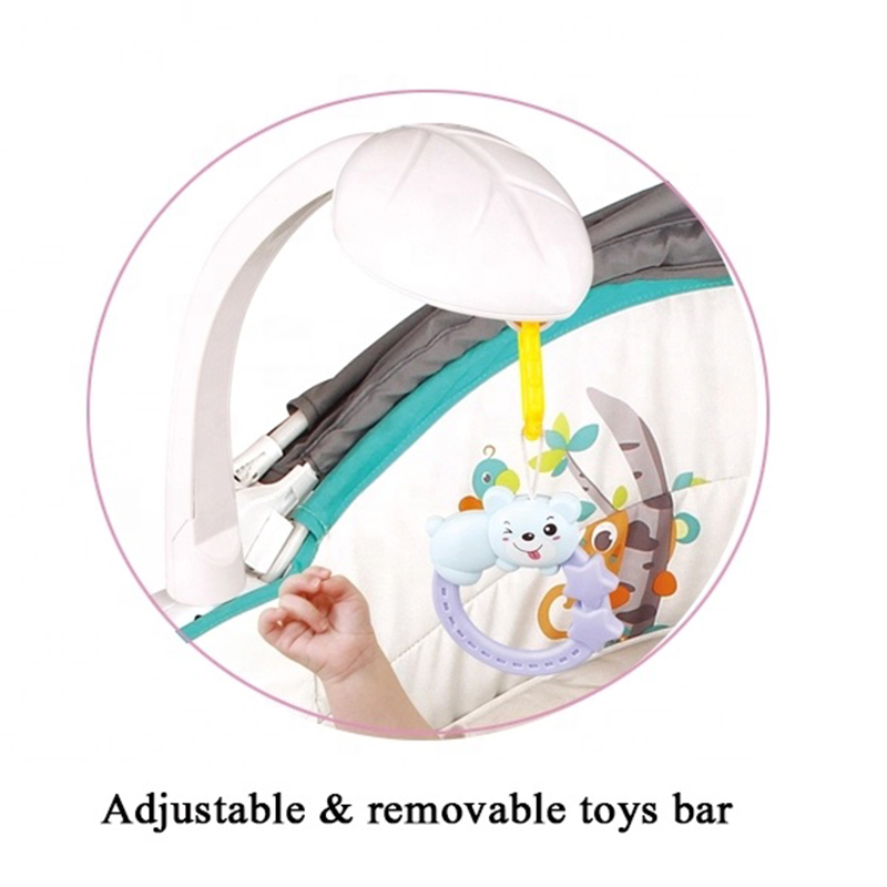 5 In 1 Comfortable Baby Sleeping Bed Soft Baby Bassinet Foldable Baby Rocking Chair Kids Bedside Basket