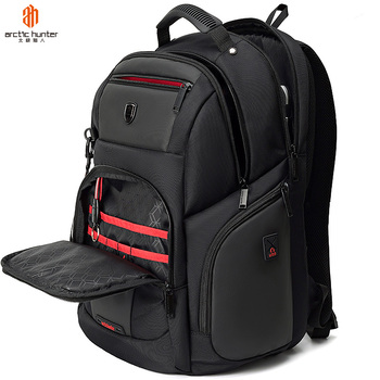 Mochila Impermeable Polyester RFID USB Laptop Men's bag Business Travel Notebook Antirrobo Anti Theft Backpack Black