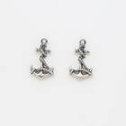 Classic Anchor Charm for Jewelry Making Alloy Charm with Line Antique Silver for DIY Bracelet Making