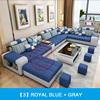 Royal Blue +  Gray
