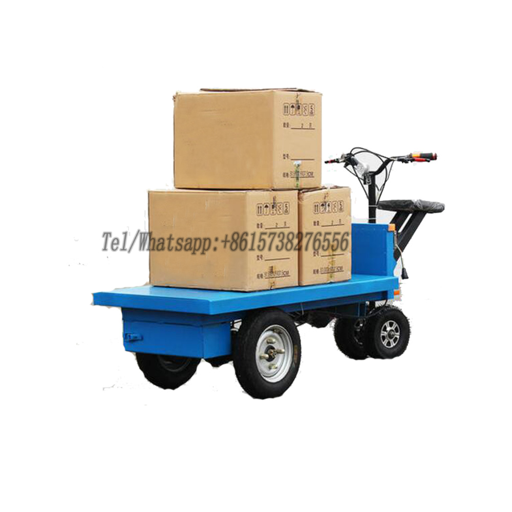 Large Load Capacity Warehouse Truck Garden Electric Trolley Electric Carry Wagon With 4 Wheels