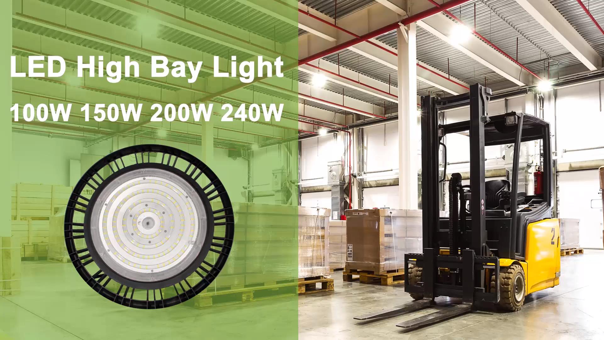 Фабричное складское промышленное освещение 100 Вт 150 Вт 200 Вт 240 Вт led high bay light