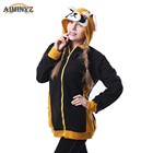AIMINYZ In Stock Autumn Winter Creative Men's Animal Cartoon Polar Fleece Sweatshirt Hoodie Coon Adult Coat Cute