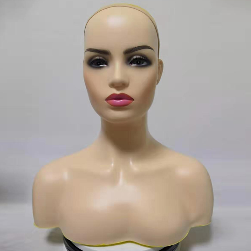 Красивый белый наплечный Афро-американский манекен парик дисплей голова манекена с плечами женский манекен парик голова