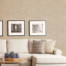 Однотонные простые льняные тканевые обои, простые современные обои для гостиной, спальни, роскошные обои, водонепроницаемая настенная одеж...(Китай)
