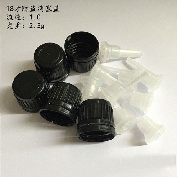 18mm neck plastic child resistant cap, childproof cap with dropper, 18 neck tamper evident screw cap