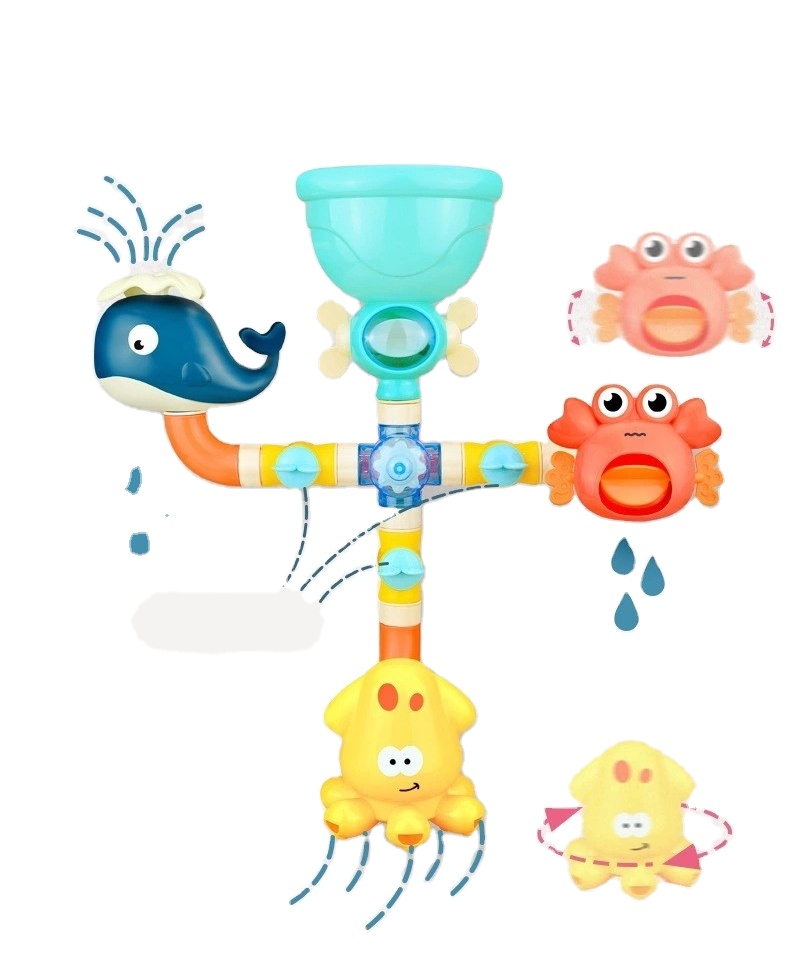 2021 Bathroom Pipe Safe Water Game Small Toddler Children Kids Baby Bath Toy For Shower
